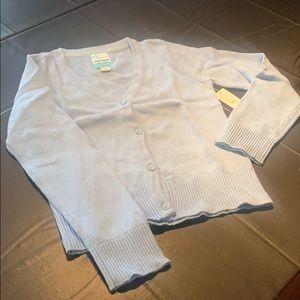 New Old Navy Girls Sweater Cardigan Blue Medium